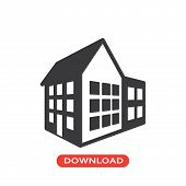 3d House Vector Icon Flat Style Illustration For Web, Mobile, Logo, Application And Graphic Design.  poster