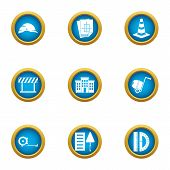 Remedial Maintenance Icons Set. Flat Set Of 9 Remedial Maintenance Vector Icons For Web Isolated On  poster