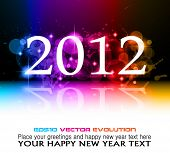 stock photo of new years celebration  - 2012 New Year celebration background for cover - JPG