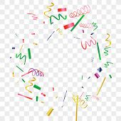 Bright Sparkle Of Colorful Confetti. Abstract Background With Falling Blue, Red, Gold, Green, Pink T poster