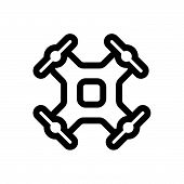 Drone Vector Icon On White Background. Drone Modern Icon For Graphic And Web Design. Drone Icon Sign poster