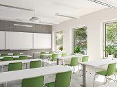 3d Rendering. Empty School Classroom. Education Concept poster