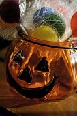 picture of jack-o-laterns-jack-o-latern  - Glass jack - JPG