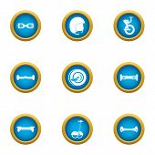 Two Wheeled Icons Set. Flat Set Of 9 Two-wheeled Vector Icons For Web Isolated On White Background poster