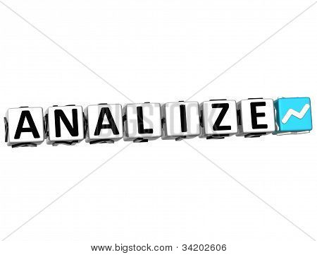 3D Analize Button Click Here Block Text