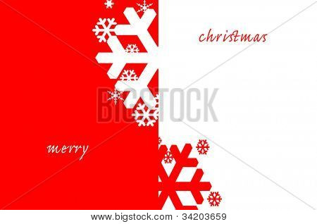merry christmas written in a red and white background with snowflakes