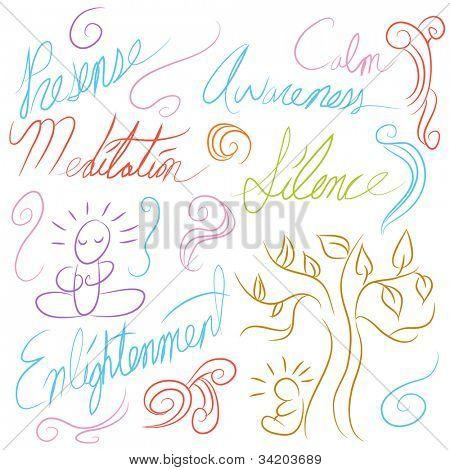 An image of a meditation symbol set.