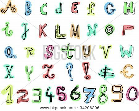 Doodle letras