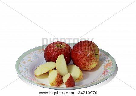 Three  red apple.