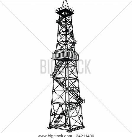 井架钻机 库存矢量图和库存照片 | bigstock