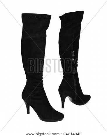 Female Boots  On A High Heel