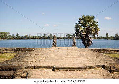 Srah Srang Reservoir, Angkor, Cambodia