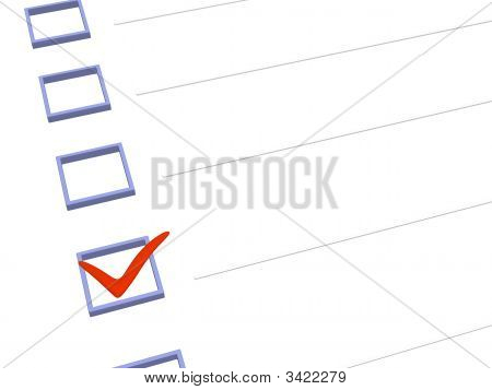 3D Notebook With  Point Marked In The List