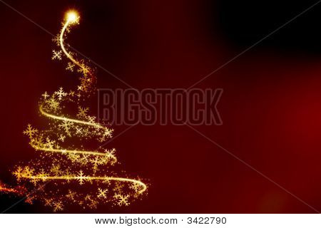 Abstract Swirling Christmas Tree