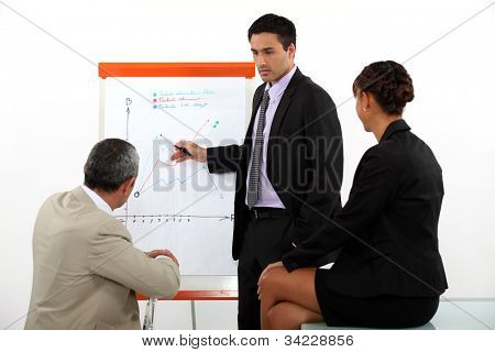 businessman making a presentation