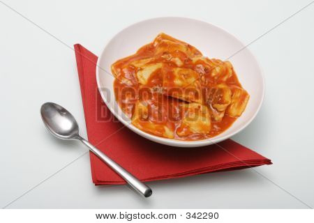 Ravioli With Spoon