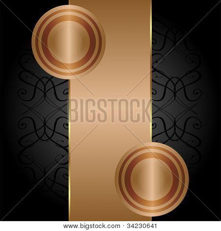 poster of Old Antique Burnished Gold Background. Vector Grunge Texture