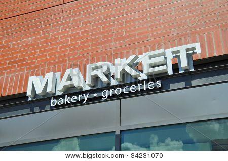 Market store signage