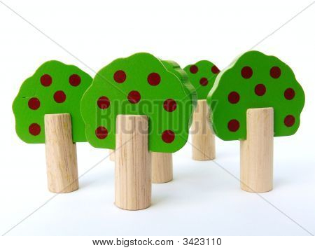 Wooden Toy Trees
