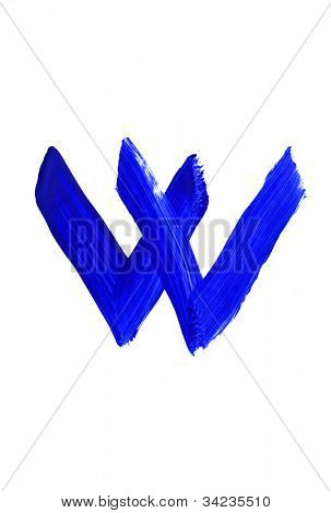 Letter w on white background