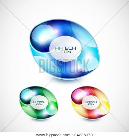 Abstract liquid glass shape icon