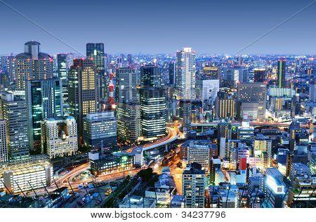 Downtown Osaka, Japan District of Umeda