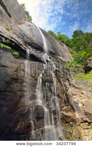 Hickory Nut Falls in Chimney Rock State Park, North Carolina.