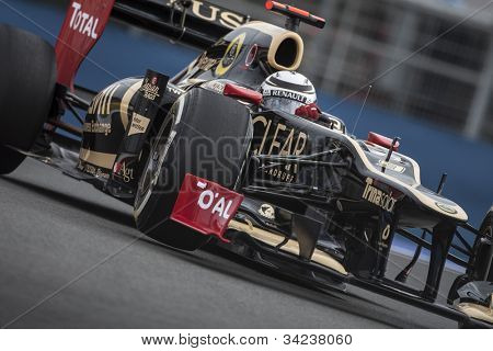 VALENCIA, SPAIN - JUNE 22: Kimi raikkonen in the Formula 1 Grand Prix of Europe, in Valencia Street Circuit, Spain on June 22, 2012