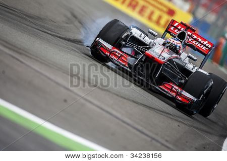 VALENCIA, SPAIN - JUNE 22: Jenson Button in the Formula 1 Grand Prix of Europe, in Valencia Street Circuit, Spain on June 22, 2012