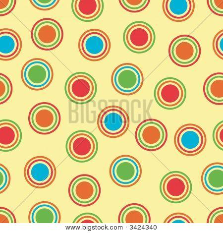 Bright Polka Dots Background