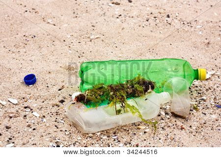 Pollution On The Beach