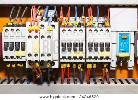 Control Panel With Circuit-breakers1