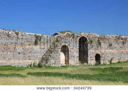 Archeological site of the ancient Nikopolis in Preveza Greece