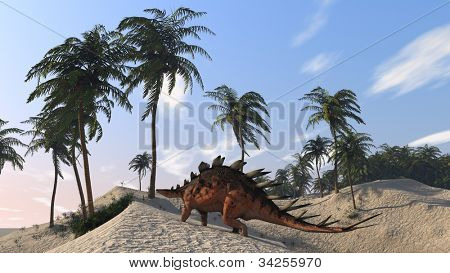 kentrosaurus on shore hills