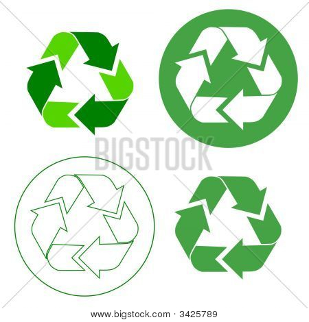 Four Recycle Icons Copy