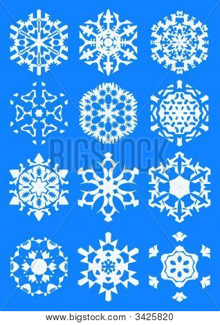 Snowflakes In Blue Copy