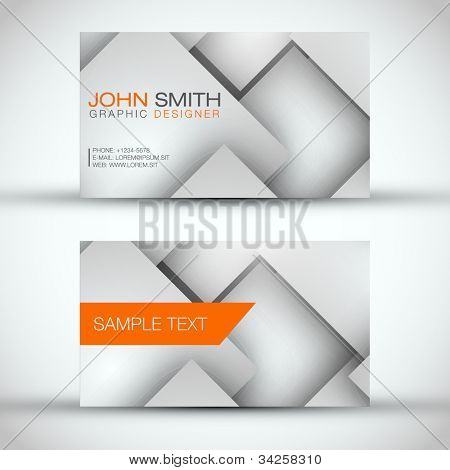 Grey and White Modern Business - Card Set | EPS10 Vector Design