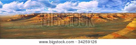 Panorama Plateau Ustyurt In Kazakhstan