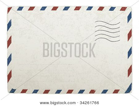 Vintage mailing envelope. Vector template for your designs, EPS 10.