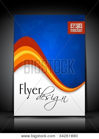 Professional business flyer, corporate brochure or cover design template for publishing, print and presentation. Vector illustration in EPS 10.