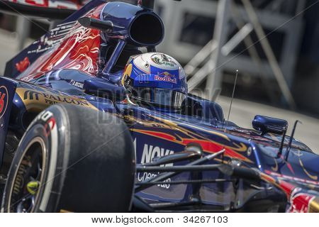 VALENCIA, SPAIN - JUNE 23: Daniel Ricciardo in the Formula 1 Grand Prix of Europe, Valencia Street Circuit. Spain on June 23, 2012