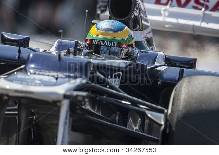 VALENCIA, SPAIN - JUNE 23: Bruno Senna in the Formula 1 Grand Prix of Europe, Valencia Street Circuit. Spain on June 23, 2012