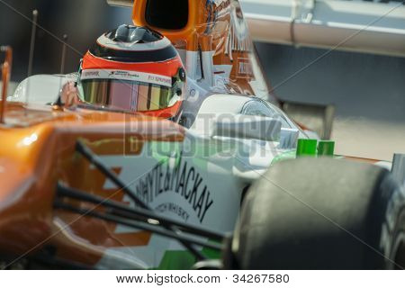 VALENCIA, SPAIN - JUNE 23: Nico Hulkenberg in the Formula 1 Grand Prix of Europe, Valencia Street Circuit. Spain on June 23, 2012