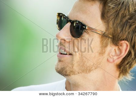 VALENCIA, SPAIN - JUNE 23: Jenson Button in the Formula 1 Grand Prix of Europe, Valencia Street Circuit. Spain on June 23, 2012