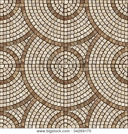 Brown marble-stone mosaic texture. (High.res.)