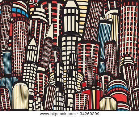 Colorful Cartoon City