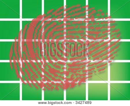 Fingerprint On Green