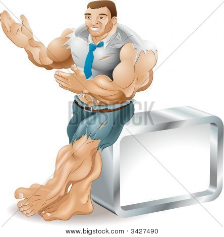 Muscular Businessman