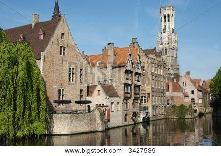 Rozenhoedkaai, One Of The Landmarks In Bruges