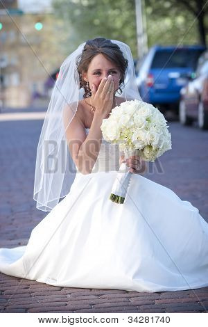 Bride Holding Back Tears